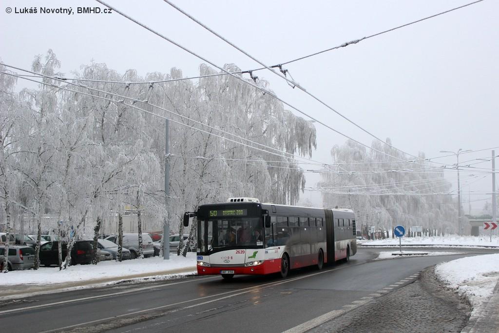Fotogalerie » Solaris Urbino 18 III 9B7 9150 2639 | Brno | Kohoutovice | Žebětínská | Kohoutovice, hájenka