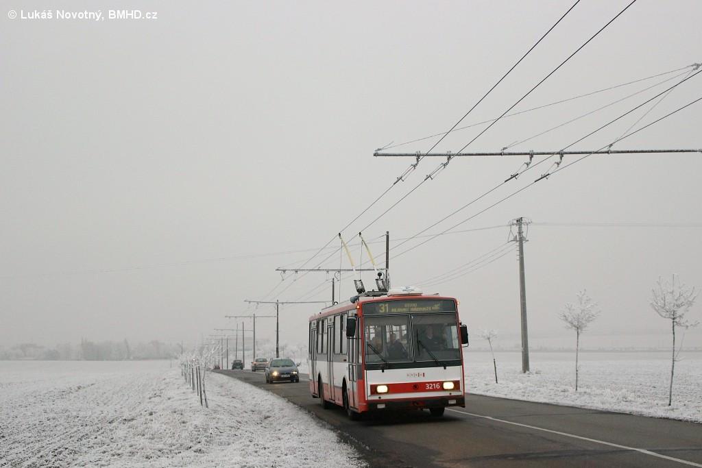 Fotogalerie » Škoda 14Tr08/6 3216   Šlapanice   Brněnská   Hraničky