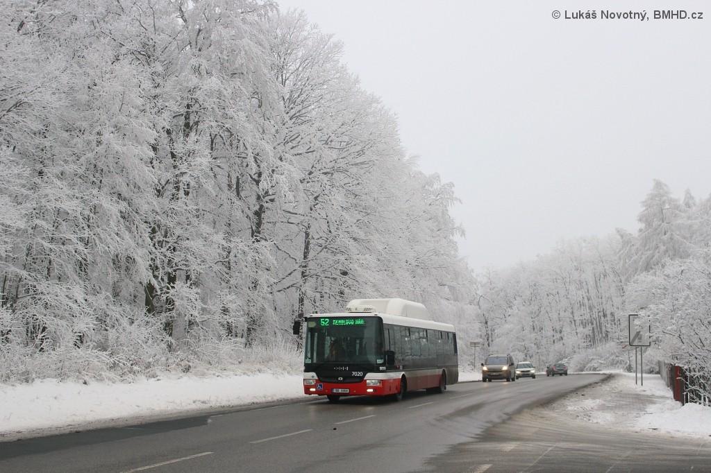 Fotogalerie » SOR NBG 12 1BB 6908 7020 | Brno | Kohoutovice | Žebětínská | Kohoutovice, hájenka