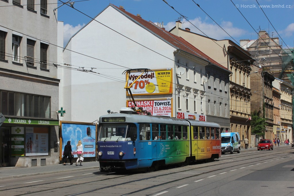 Fotogalerie » ČKD Tatra K2P 1041 | Brno | střed | Cejl