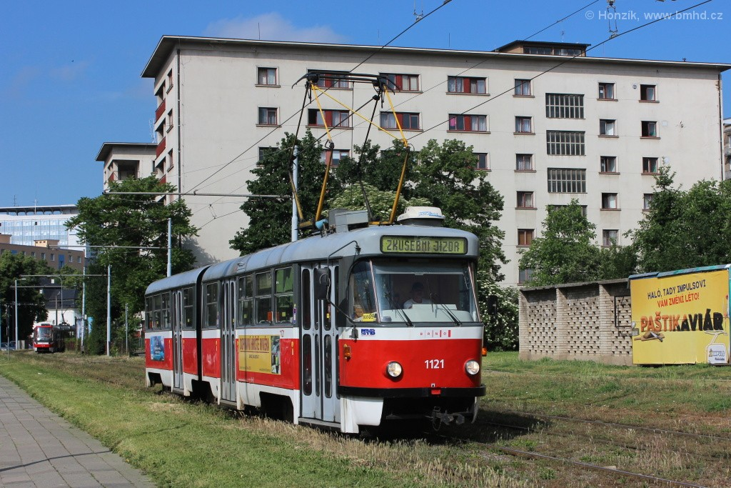 Fotogalerie » ČKD Tatra K2 1121 | Brno | Staré Brno | Veletržní