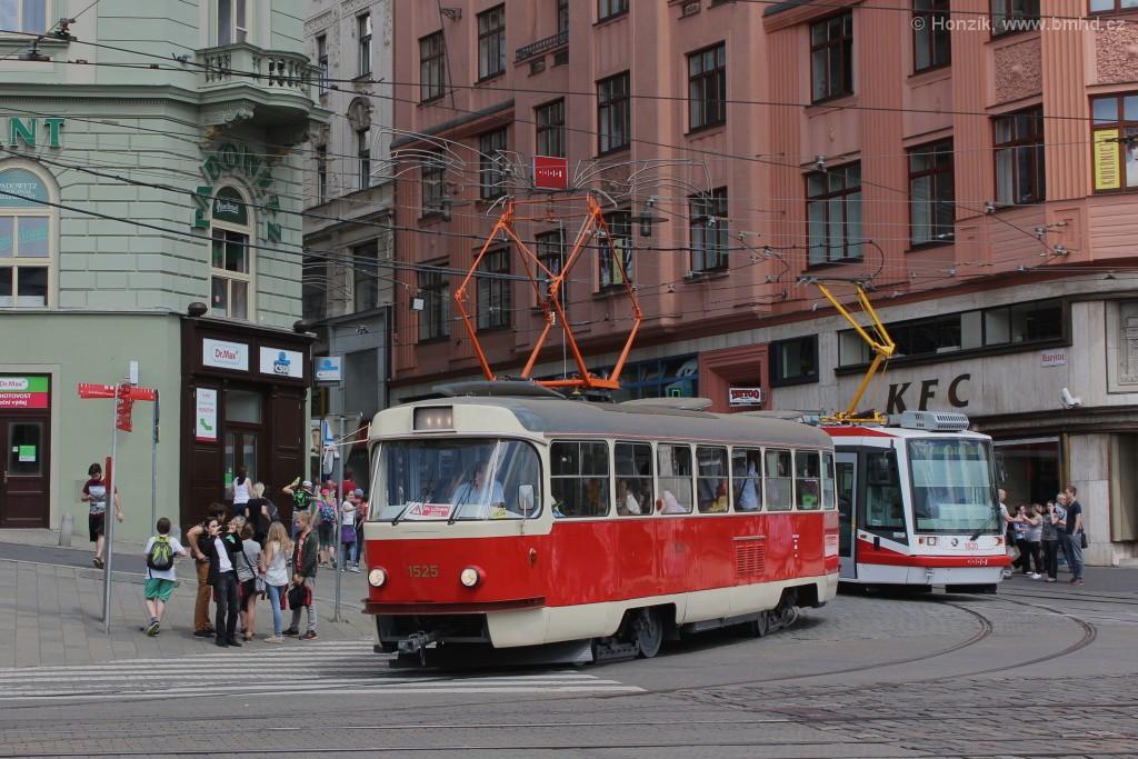 Fotogalerie » ČKD Tatra T3 1525 | Brno | střed | Nádražní
