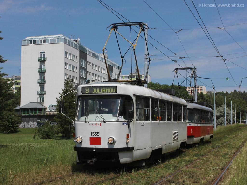 Fotogalerie » ČKD Tatra T3M 1555 | ČKD Tatra T3M 1582 | Brno | Lesná