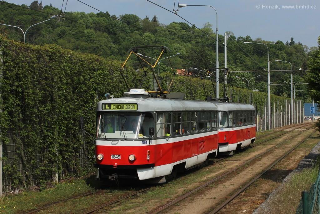 Fotogalerie » ČKD Tatra T3G 1649 | ČKD Tatra T3G 1650 | Brno | Pisárky | Žabovřeská
