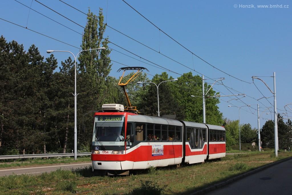 Fotogalerie » Pars Nova K3R-N 1754 | Brno | Černá Pole | třída Generála Píky