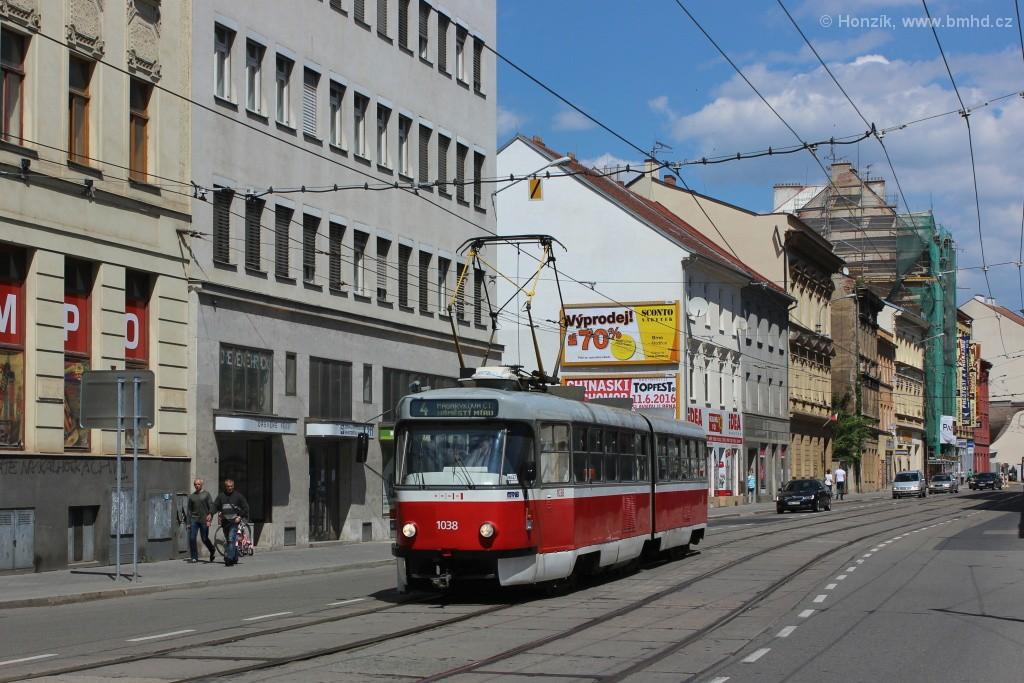 Fotogalerie » ČKD Tatra K2T 1038 | Brno | střed | Cejl