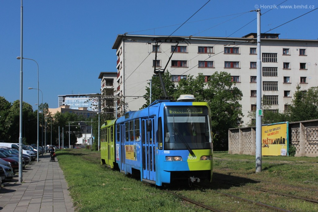 Fotogalerie » ČKD Tatra K2R03 1059   Brno   Staré Brno   Veletržní