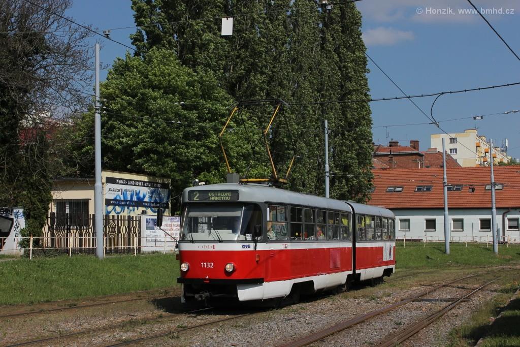 Fotogalerie » ČKD Tatra K2 1132   Brno   Štýřice   Vídeňská
