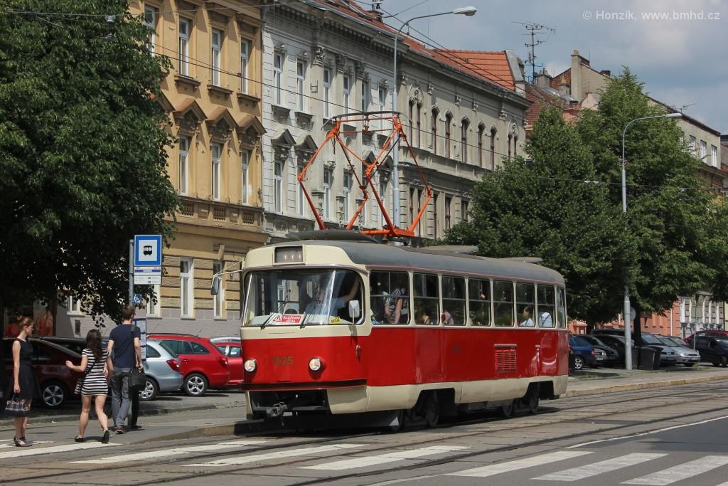 Fotogalerie » ČKD Tatra T3 1525 | Brno | Ponava | Štefánikova | Hrnčířská