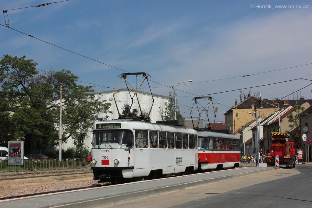 Fotogalerie » ČKD Tatra T3M 1555 | ČKD Tatra T3M 1582 | Brno | Černovice | Olomoucká | Životského