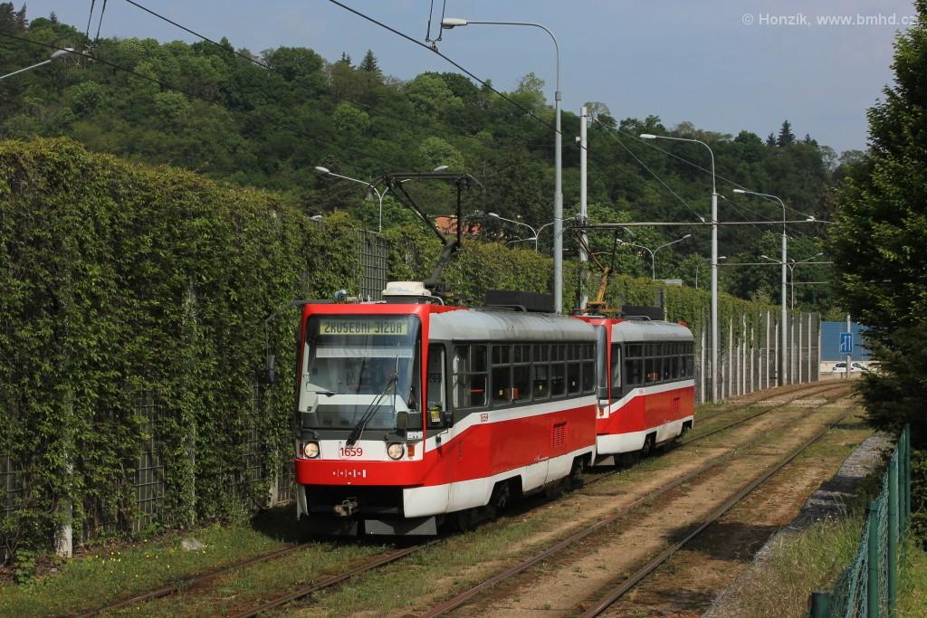 Fotogalerie » ČKD DS T3R 1659 | ČKD DS T3R 1660 | Brno | Pisárky | Žabovřeská