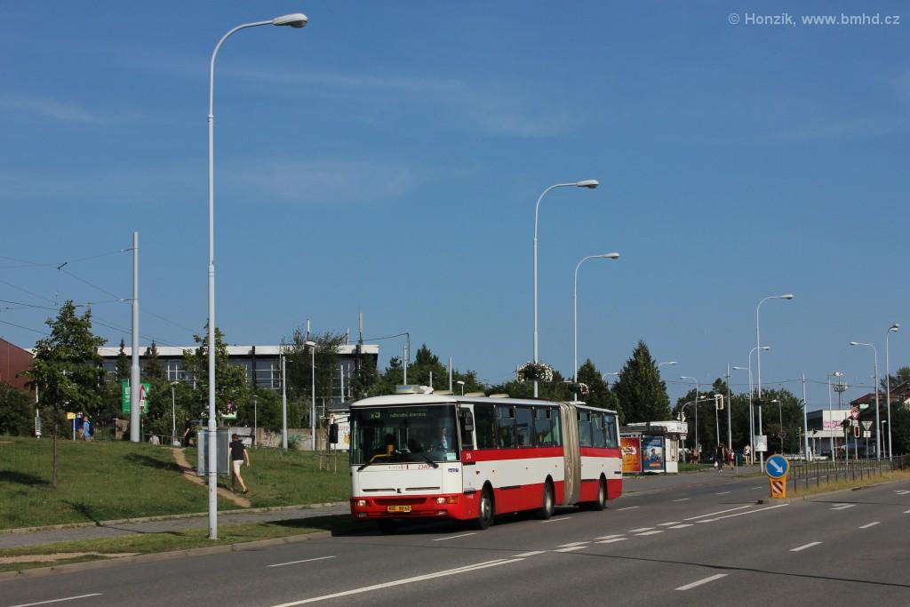 Fotogalerie » Karosa B941E.1962 BSE 90-42 2345   Brno   Lesná   Okružní
