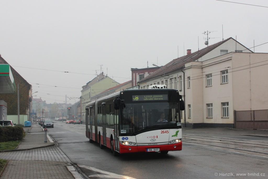 Fotogalerie » Solaris Urbino 18 III 1BA 0407 2645 | Brno | Černovice | Olomoucká