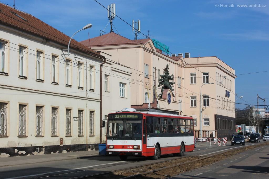 Fotogalerie » Škoda 14TrR 3247 | Brno | Černovice | Olomoucká