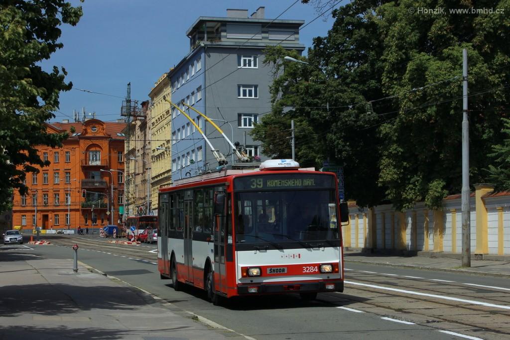 Fotogalerie » Škoda 14Tr17/6M 3284 | Brno | střed | Údolní