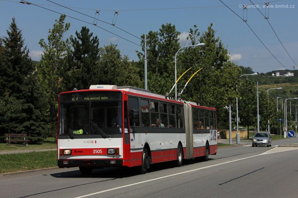 Fotogalerie » Škoda 15TrM 3505 | Brno | Vinohrady | Bzenecká