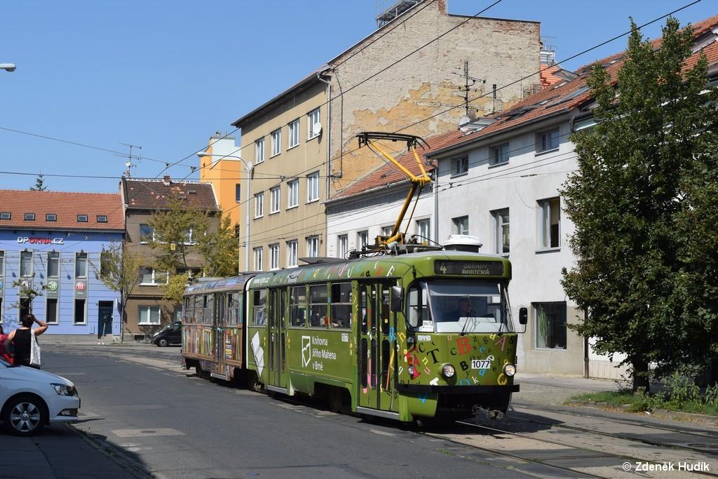Fotogalerie » ČKD Tatra K2P 1077   Brno   Husovice   Dačického