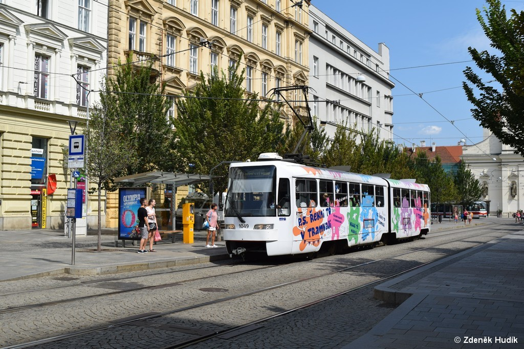 Fotogalerie » ČKD Tatra K2R03-P 1049 | Brno | střed | Joštova | Česká