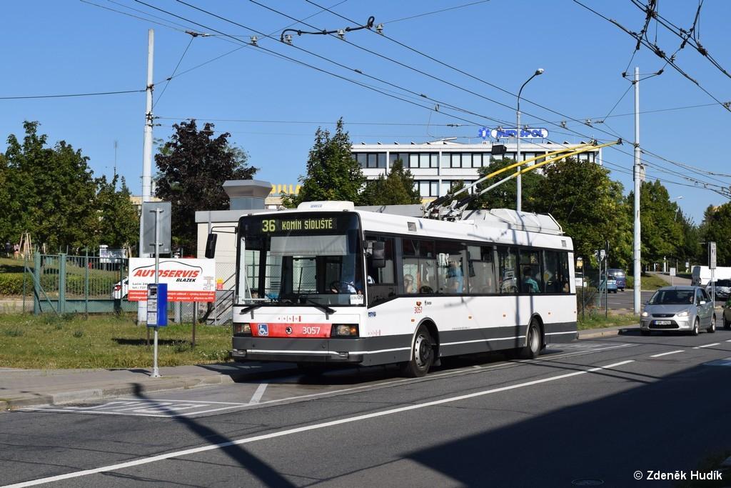 Fotogalerie » Škoda 21TrAC 3057 | Brno | Žabovřesky | Přívrat | Přívrat