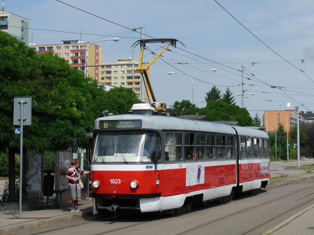 Fotogalerie » ČKD Tatra K2P 1023 | Brno | Královo Pole | Budovcova | Královo Pole, nádraží