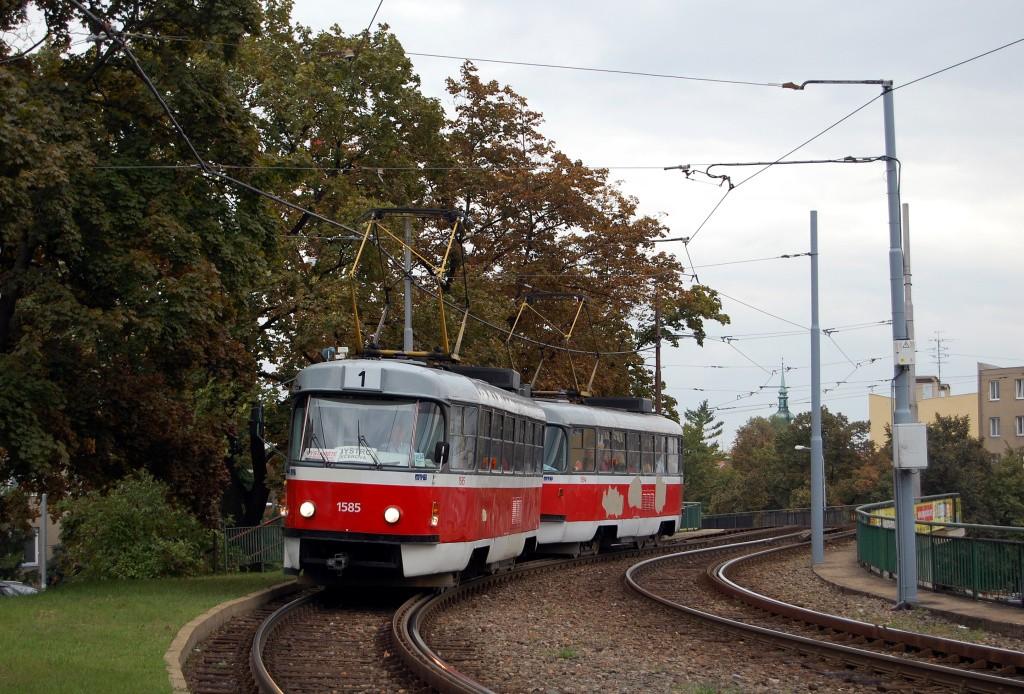Fotogalerie » ČKD Tatra T3M 1585 | ČKD Tatra T3M 1594 | Brno | Staré Brno | Hlinky