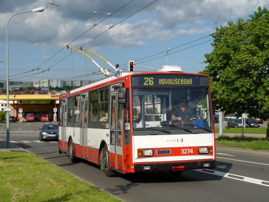 Fotogalerie » Škoda 14Tr17/6M 3274 | Brno | Vinohrady | Bzenecká
