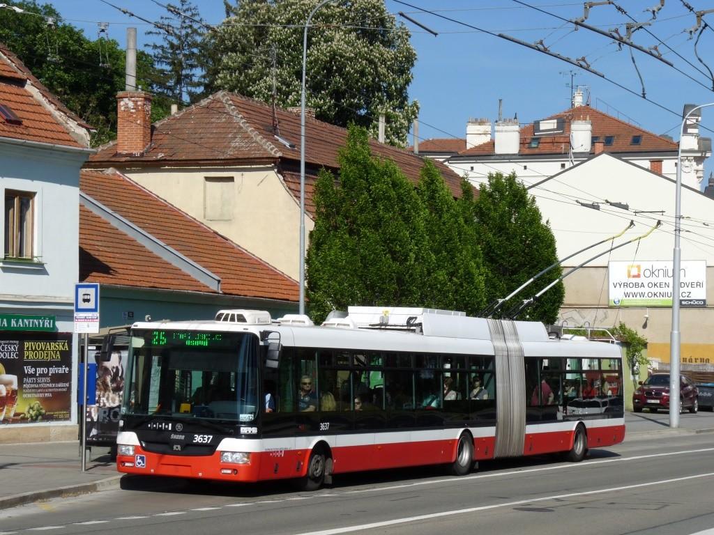 Fotogalerie » Škoda 31Tr 3637 | Brno | Pisárky | Hlinky | Výstaviště, hlavní vstup