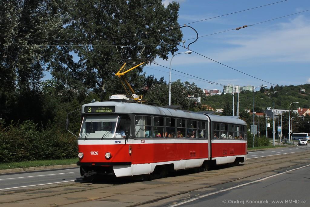 Fotogalerie » ČKD Tatra K2P 1026 | Brno | Židenice | Bubeníčkova