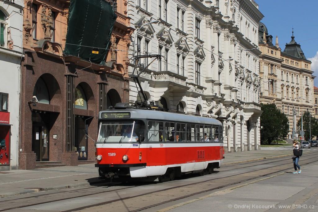 Fotogalerie » ČKD Tatra T3P 1589 | Brno | střed | Malinovského náměstí