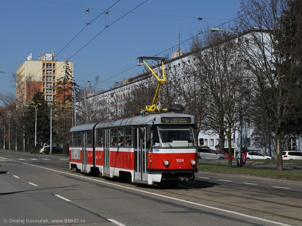 Fotogalerie » ČKD Tatra K2P 1024 | Brno | Veveří | Kounicova