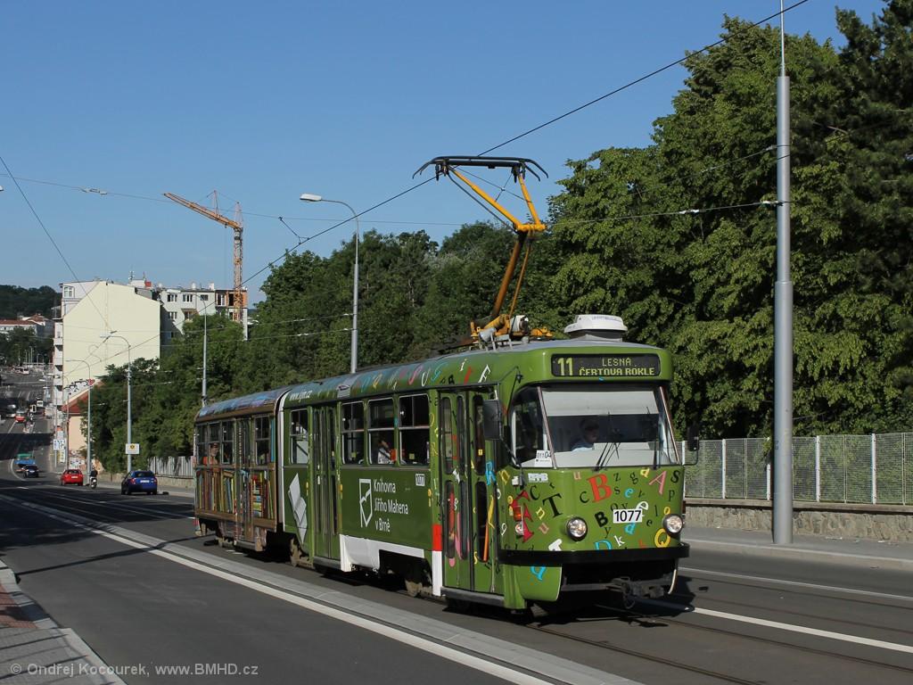 Fotogalerie » ČKD Tatra K2P 1077 | Brno | Černá Pole | Milady Horákové