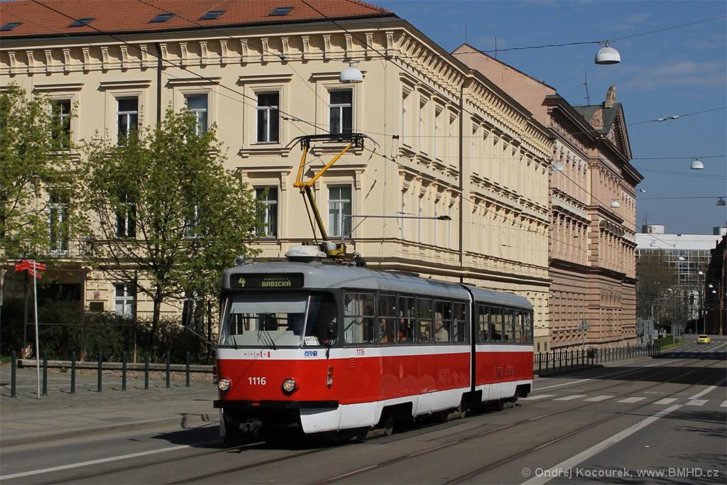 Fotogalerie » ČKD Tatra K2P 1116 | Brno | střed | Husova