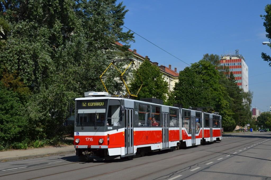 Fotogalerie » ČKD Tatra KT8D5R.N2 1716 | Brno | Královo Pole | Jana Babáka