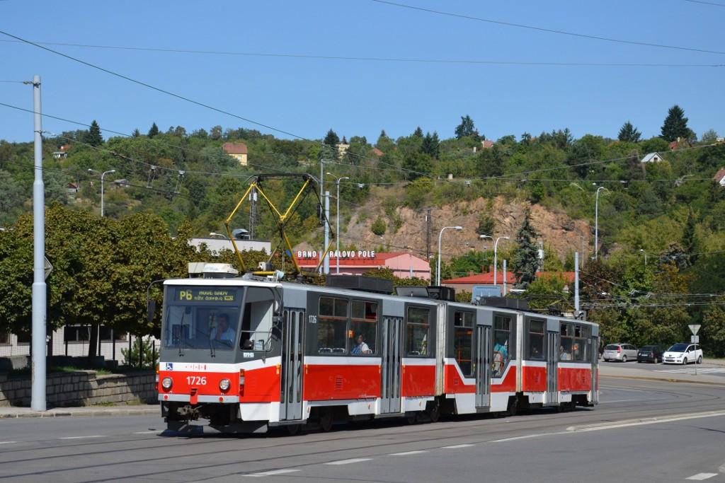 Fotogalerie » ČKD Tatra KT8D5R.N2 1726 | Brno | Královo Pole | Kosmova