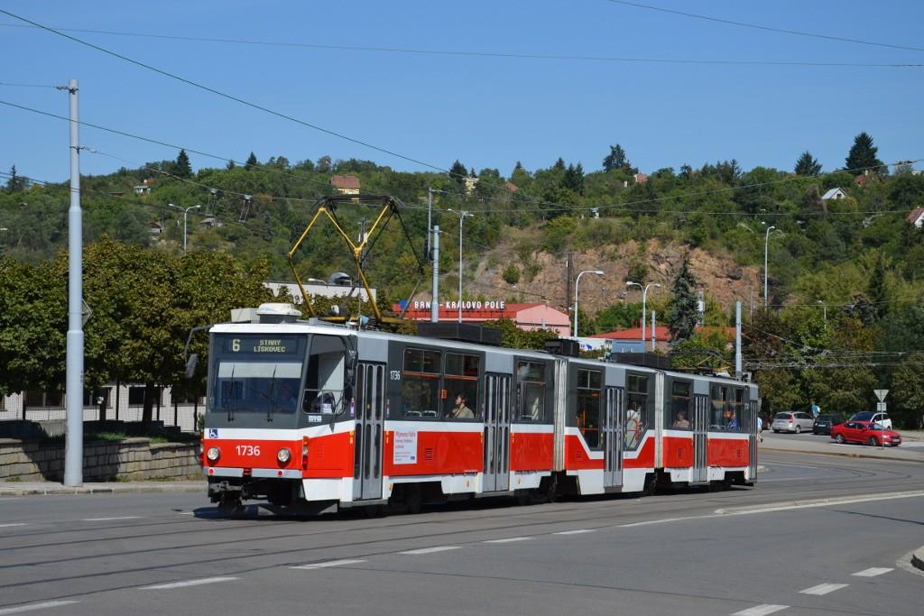Fotogalerie » ČKD Tatra KT8D5R.N2 1736 | Brno | Královo Pole | Kosmova