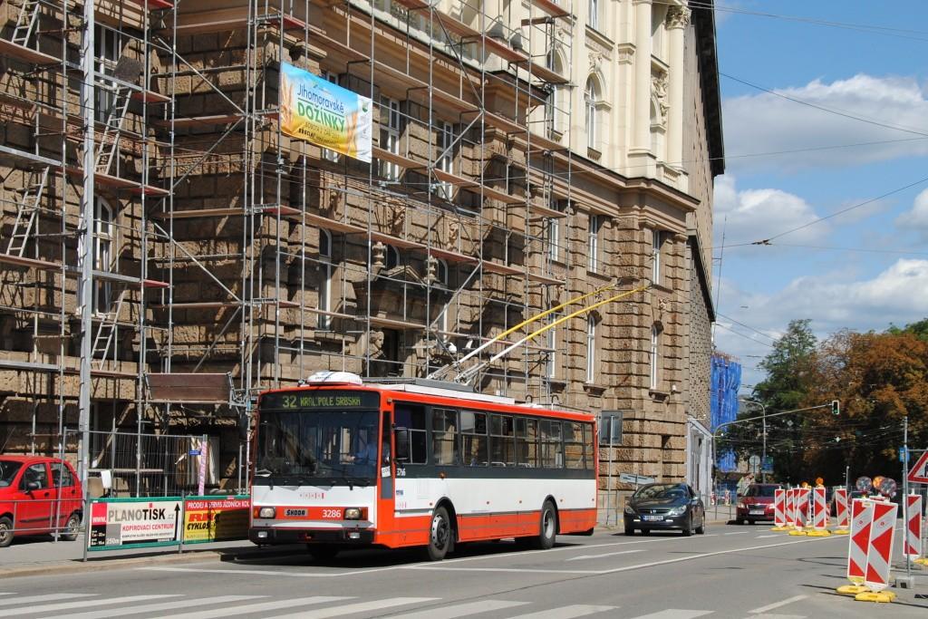 Fotogalerie » Škoda 14TrR 3286 | Brno | střed | Žerotínovo náměstí
