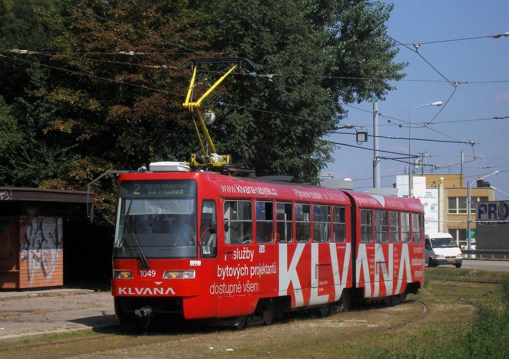 Fotogalerie » ČKD Tatra K2R03-P 1049 | Brno | Horní Heršpice | Ústřední hřbitov, smyčka