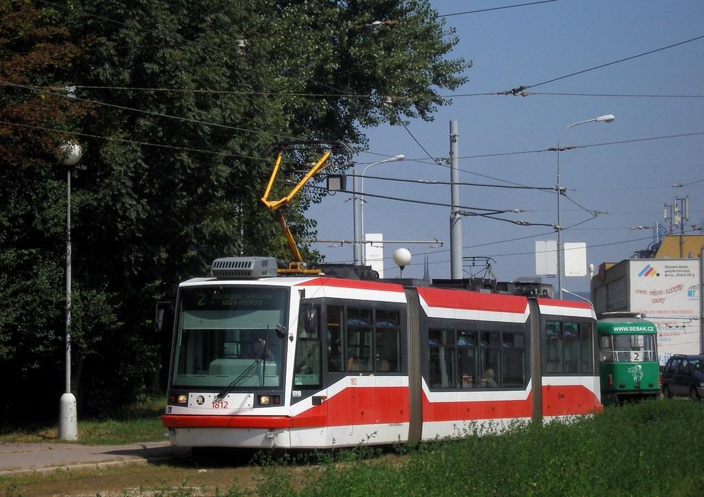 Fotogalerie » Škoda 03T6 1812   Brno   Horní Heršpice   Ústřední hřbitov, smyčka