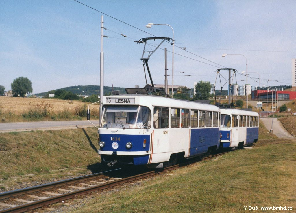 Fotogalerie » T3G 1634 | T3G 1616 | Brno | Starý Lískovec | Jemelkova | Starý Lískovec, smyčka