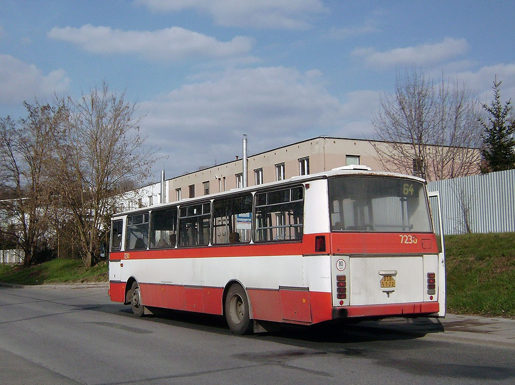 Fotogalerie » Karosa B732.20 7230 | Brno | Maloměřice | Kulkova | Depo ČD