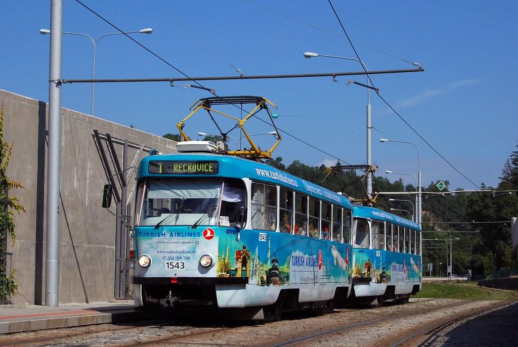 Fotogalerie » ČKD Tatra T3P 1543 | ČKD Tatra T3P 1587 | Brno | Pisárky | Pisárky