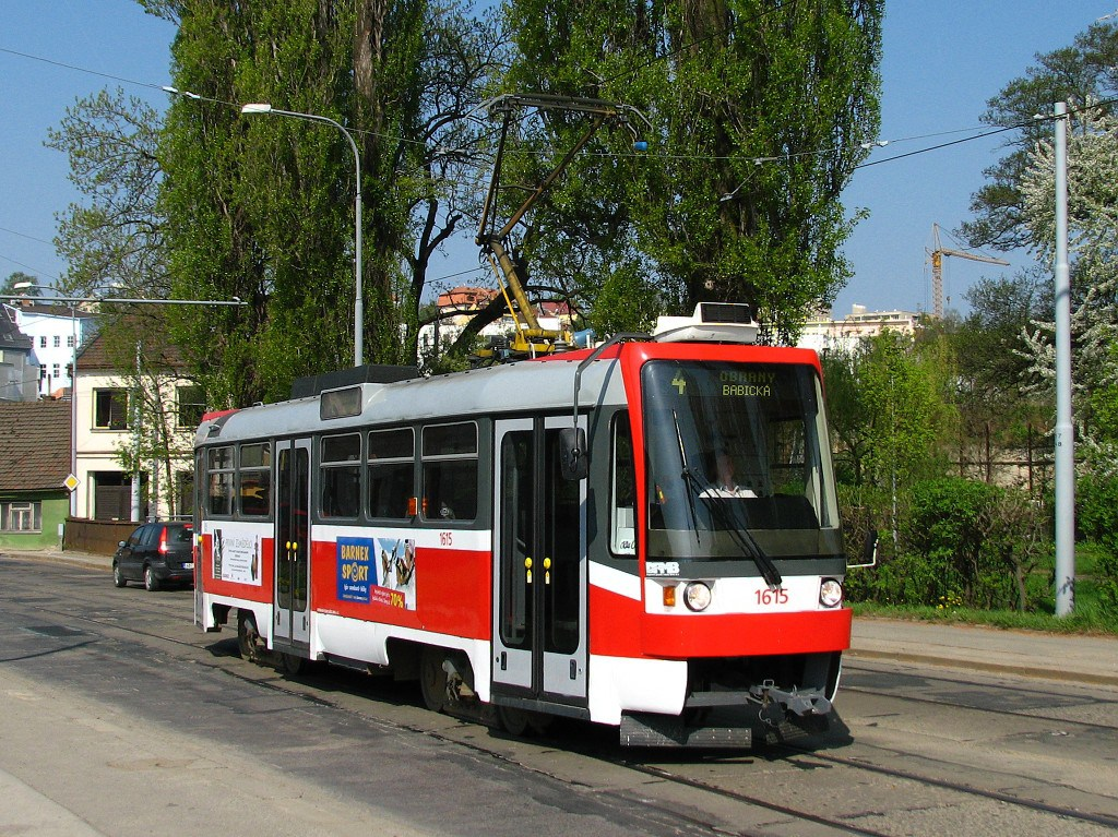 Fotogalerie » ČKD Tatra T3R 1615 | Brno | Husovice | Valchařská