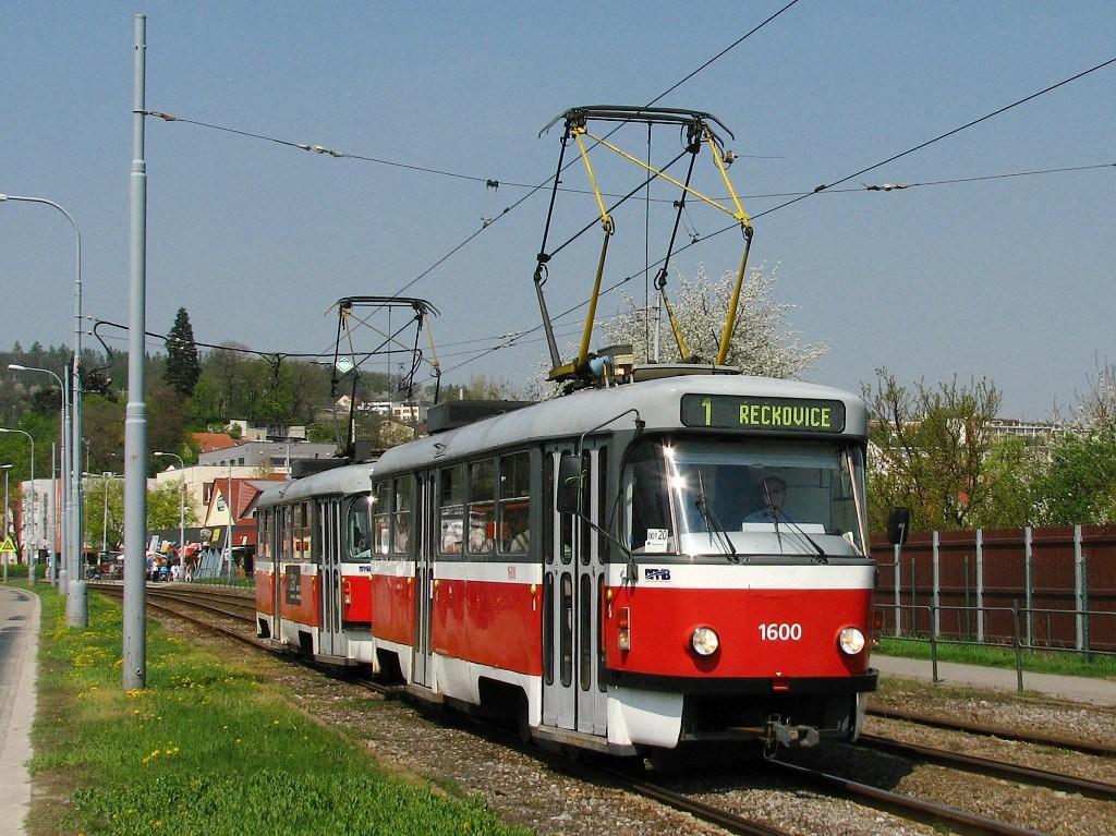 Fotogalerie » ČKD Tatra T3M 1600 | ČKD Tatra T3M 1601 | Brno | Komín | Kníničská