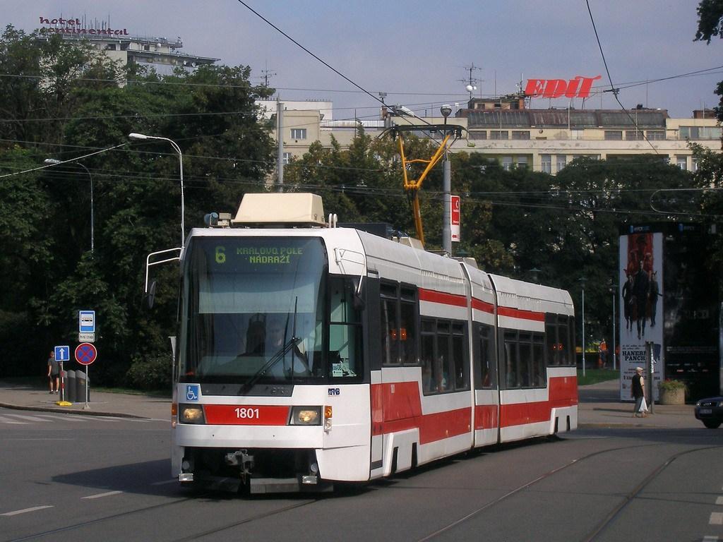 Fotogalerie » ČKD DS RT6N1 1801 | Brno | střed | Moravské náměstí