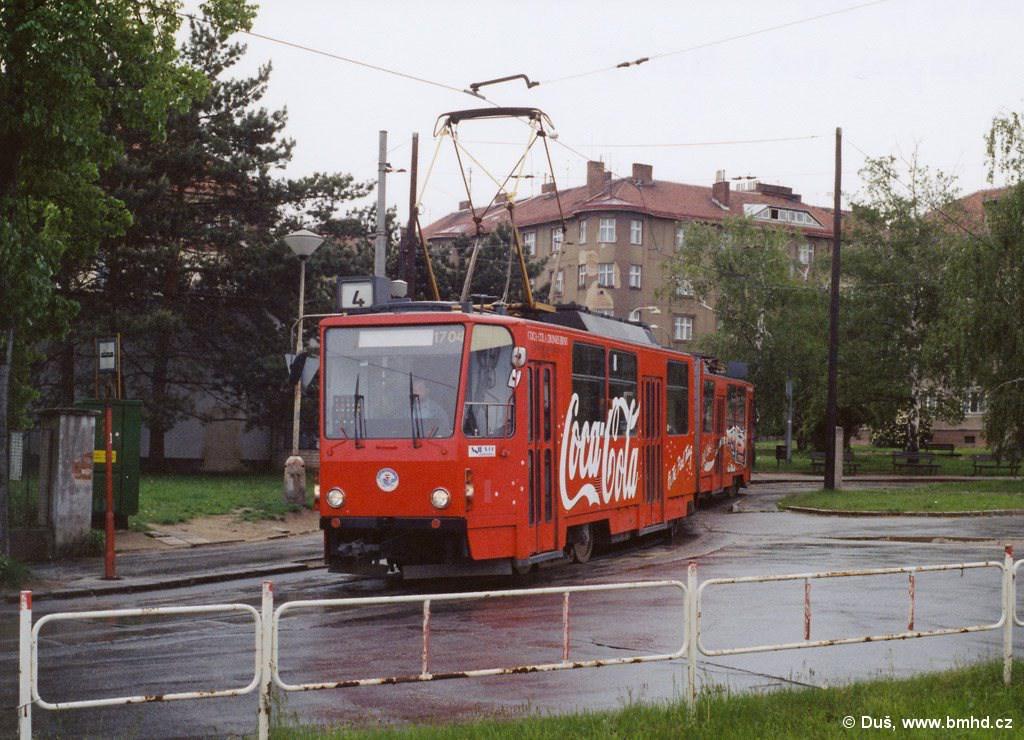 Fotogalerie » KT8D5 1704 | Brno | Masarykova čtvrť | Náměstí míru | Náměstí Míru, smyčka
