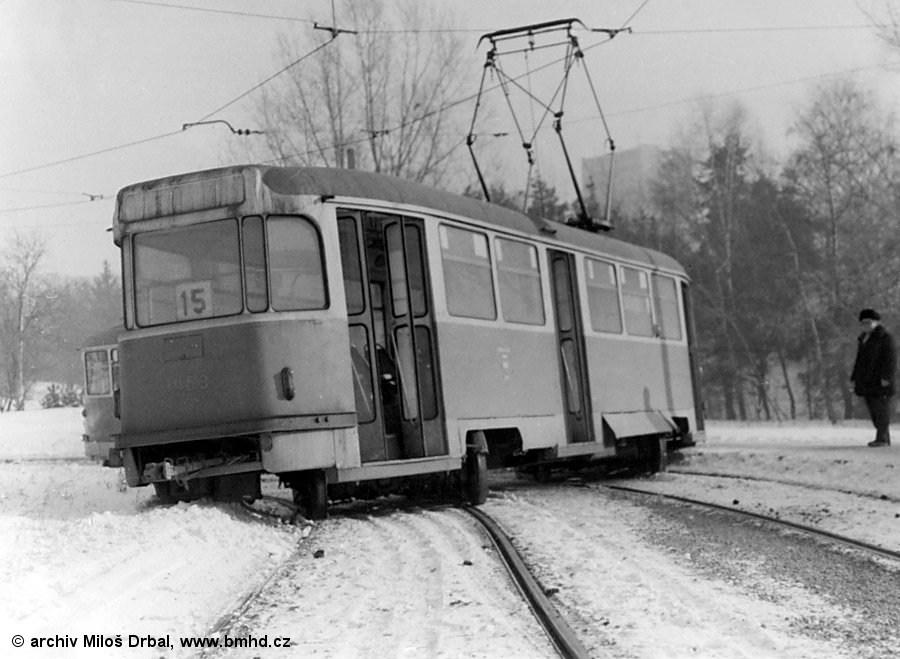 Fotogalerie » Tatra T2R 1459 | Tatra T2R 1463 | Brno | Lesná | Lesná, smyčka