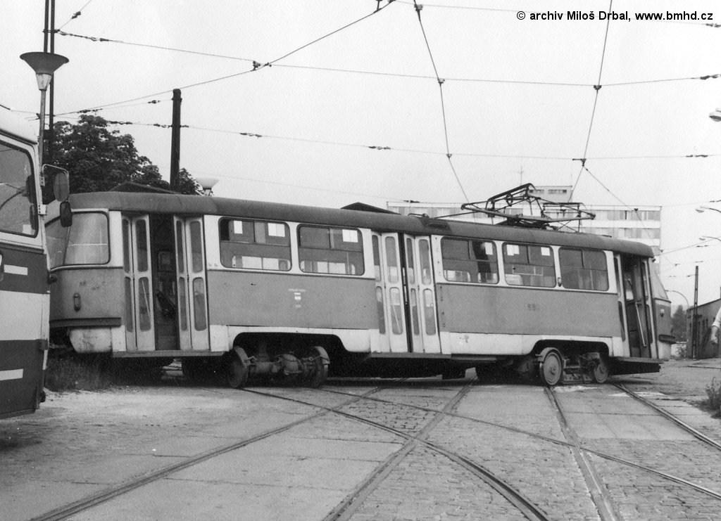 Fotogalerie » ČKD Tatra T3 1551 | Brno | vozovna Medlánky
