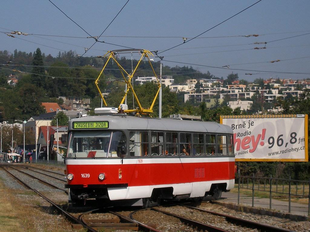 Fotogalerie » ČKD Tatra T3G 1639 | Brno | Komín | Kamenomlýnská