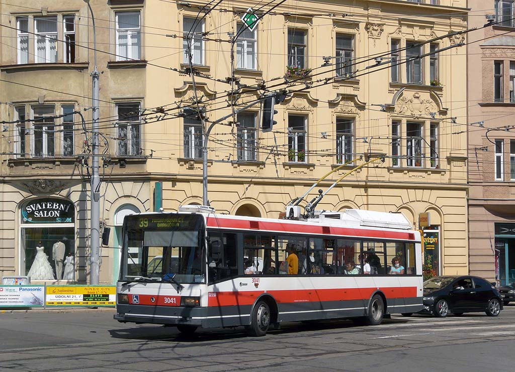 Fotogalerie » Škoda 21TrIGCT 3041 | Brno | Veveří | Údolní