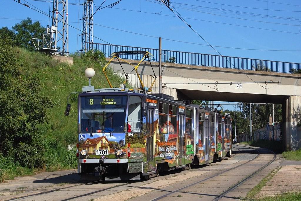 Fotogalerie » ČKD Tatra KT8D5R.N2 1701 | Brno | Židenice | Nezamyslova